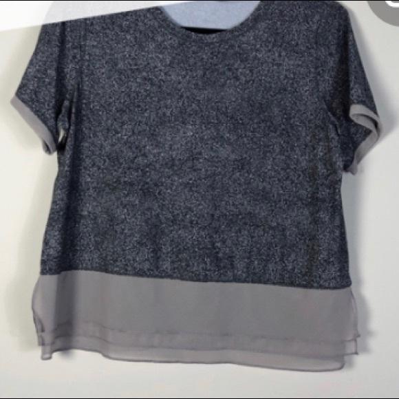 Lululemon ruffle peplum shirt